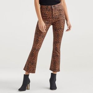 7 for all Mankind High Waist Flare Leopard Pants